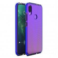 """""""SPRING CASE"""" SKAIDRUS TPU DĖKLAS SU SPALVOTU RĖMU Huawei P Smart 2019 tamsiai mėlynas (ctz012) UCS089"""