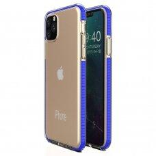 """""""SPRING CASE"""" SKAIDRUS TPU DĖKLAS SU SPALVOTU RĖMU iPhone 11 Pro tamsiai mėlynas (ctz009)"""