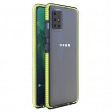 """""""SPRING CASE"""" SKAIDRUS TPU DĖKLAS SU SPALVOTU RĖMU Samsung Galaxy A51 geltonas (ctz006) UCS025"""