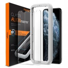 Aukštos Kokybės Ekrano Apsauga Spigen Alm Glas.Tr Slim 2-Pack Iphone 11 Pro Max