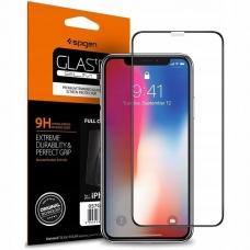 Aukštos Kokybė Apsauginis Stiklas Spigen Fc Iphone Xr Juodas