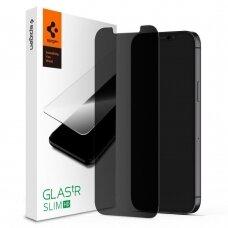 Aukštos Kokybės Apsauginis Stiklas Privacy Spigen Glass.Tr  Iphone 12 Pro / Iphone 12