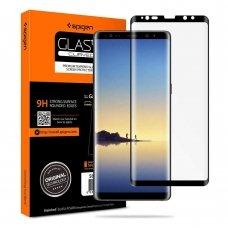 Aukštos Kokybė Apsauginis Stiklas Spigen Case Friendly Galaxy Note 8 Juodas