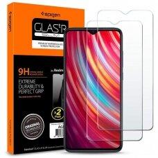 AUKŠTOS KOKYBĖS EKRANO APSAUGA SPIGEN GLASS SPIGEN GLAS.TR SLIM Xiaomi mi Note 8 Pro (ctz011)