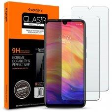 Aukštos Kokybė Apsauginis Stiklas Spigen Slim 2-Pack Xioami Redmi Note 7