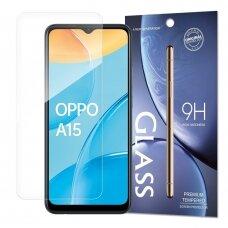 Tempered Glass 9H Ekrano Apsauga Oppo A15 (pakuotė – vokas)