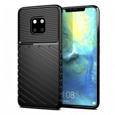 "TPU Dėklas nugarėlė ""Thunder Case Flexible Tough Rugged"" Huawei Mate 20 Pro juodas (jfu77) UCS080"