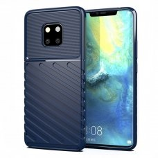 "TPU Dėklas nugarėlė ""Thunder Case Flexible Tough Rugged"" Huawei Mate 20 Pro mėlynas (jfu77) UCS080"