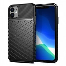 """Tpu Dėklas Nugarėlė """"Thunder Case Flexible Tough Rugged"""" Iphone 11 Juodas"""