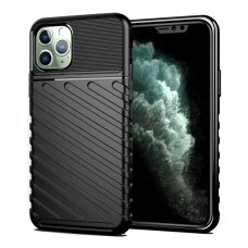 """Tpu Dėklas Nugarėlė """"Thunder Case Flexible Tough Rugged"""" Iphone 11 Pro Juodas"""