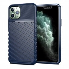 "TPU Dėklas nugarėlė ""Thunder Case Flexible Tough Rugged"" iPhone 11 Pro Max mėlynas (cdx22)"