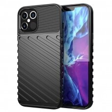 Tpu Dėklas Nugarėlė 'Thunder Case Flexible Tough Rugged' Iphone 12 / 12 Pro Juodas