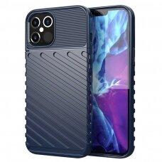 Tpu Dėklas Nugarėlė 'Thunder Case Flexible Tough Rugged' Iphone 12 / 12 Pro Mėlynas