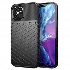 Tpu Dėklas Nugarėlė 'Thunder Case Flexible Tough Rugged' Iphone 12 Pro Max Juodas