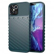 Tpu Dėklas Nugarėlė 'Thunder Case Flexible Tough Rugged' Iphone 12 Pro Max Žalias