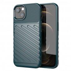 Dėklas Thunder Case Flexible Tough Rugged  iPhone 13 Žalias