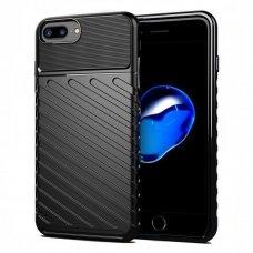 """Tpu Dėklas Nugarėlė """"Thunder Case Flexible Tough Rugged"""" Iphone 8 Plus / Iphone 7 Plus Juodas"""
