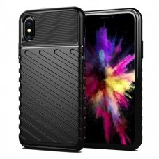 "TPU Dėklas nugarėlė ""Thunder Case Flexible Tough Rugged"" iPhone XS / iPhone X juodas (aot39)"