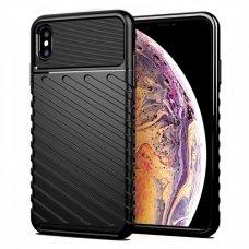"TPU Dėklas nugarėlė ""Thunder Case Flexible Tough Rugged"" iPhone XS Max juodas (lxe17) UCS059"