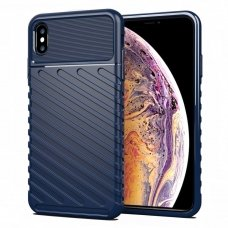 """TPU Dėklas nugarėlė """"Thunder Case Flexible Tough Rugged"""" iPhone XS Max mėlynas (lxe17) UCS059"""