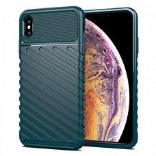 "TPU Dėklas nugarėlė ""Thunder Case Flexible Tough Rugged"" iPhone XS Max žalias (lxe17) UCS059"