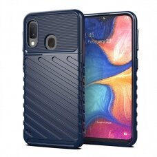 "TPU Dėklas nugarėlė ""Thunder Case Flexible Tough Rugged"" Samsung Galaxy A20e mėlynas (alw82)"