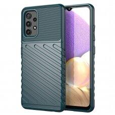 Dėklas Thunder Case Flexible TPU Samsung Galaxy A32 4G Žalias
