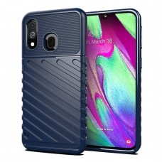 "TPU Dėklas nugarėlė ""Thunder Case Flexible Tough Rugged"" Samsung Galaxy A40 mėlynas (awr89)"