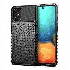 "TPU Dėklas nugarėlė ""Thunder Case Flexible Tough Rugged"" Samsung Galaxy A51 juodas (lop20)"