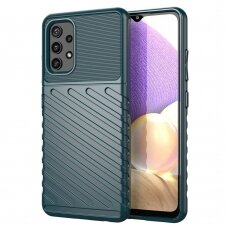 Dėklas Thunder Case Flexible TPU Samsung Galaxy A52/ A52s Tamsiai žalias