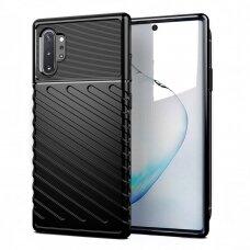 "TPU Dėklas nugarėlė ""Thunder Case Flexible Tough Rugged"" Samsung Galaxy Note 10 Plus juodas (del42) UCS019"
