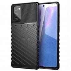 """Tpu Dėklas Nugarėlė """"Thunder Case Flexible Tough Rugged""""  Samsung Galaxy Note 20 Juodas"""
