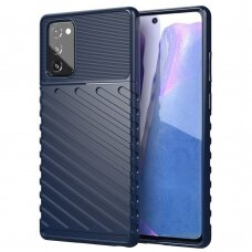 "Tpu Dėklas Nugarėlė ""Thunder Case Flexible Tough Rugged"" Samsung Galaxy Note 20 Mėlynas"