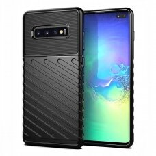 "TPU Dėklas nugarėlė ""Thunder Case Flexible Tough Rugged"" Samsung Galaxy S10 Plus juodas (wyl49)"