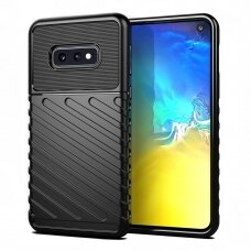 "Tpu Dėklas Nugarėlė ""Thunder Case Flexible Tough Rugged"" Samsung Galaxy S10E Juodas"