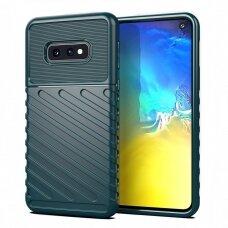 "Tpu Dėklas Nugarėlė ""Thunder Case Flexible Tough Rugged"" Samsung Galaxy S10E Žalias"