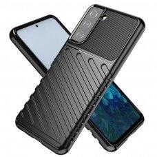 Thunder Case Flexible Tough Rugged TPU dėklas skirtas Samsung Galaxy S21 5G juodas