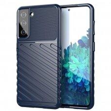 Thunder Case Flexible Tough Rugged TPU dėklas  skirtas Samsung Galaxy S21 5G mėlynas