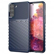 Thunder Case Flexible Tough Rugged Cover TPU dėklas skirtas Samsung Galaxy S21+ 5G (S21 Plus 5G) mėlynas