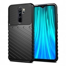 "Tpu Dėklas Nugarėlė ""Thunder Case Flexible Tough Rugged"" Xiaomi Redmi Note 8 Pro Juodas"