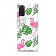 """TPU dėklas unikaliu dizainu 1.0 mm """"u-case Airskin Flamingos design"""" Samsung Galaxy S20 telefonui"""