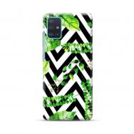 """TPU dėklas unikaliu dizainu 1.0 mm """"u-case Airskin Leaves 2 design"""" Samsung Galaxy A51 telefonui"""