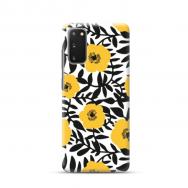 "TPU dėklas unikaliu dizainu 1.0 mm ""u-case Airskin Flowers 2 design"" Samsung Galaxy S20 telefonui"