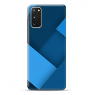 "TPU dėklas unikaliu dizainu 1.0 mm ""u-case Airskin Blue design"" Samsung Galaxy S20 telefonui"