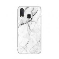 Wozinsky Marble Tpu Dėklas Samsung Galaxy A40 Baltas