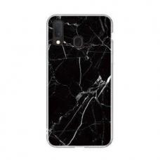 Wozinsky Marble Tpu Dėklas Samsung Galaxy A40 Juodas