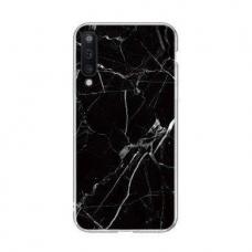 Wozinsky Marble Tpu Dėklas Samsung Galaxy A50 Juodas