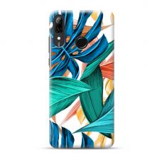 "Tpu Dėklas Unikaliu Dizainu 1.0 Mm ""U-Case Airskin Leaves 1 Design"" Huawei P Smart 2019 Telefonui"
