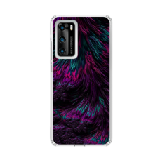 "TPU DĖKLAS UNIKALIU DIZAINU 1.0 mm ""U-CASE AIRSKIN FEATHER DESIGN"" HUAWEI P SMART 2021 TELEFONUI"