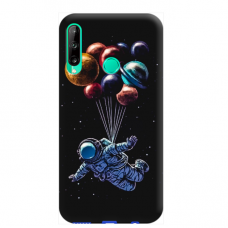 "TPU dėklas unikaliu dizainu 1.0 mm ""u-case Airskin Cosmo design"" Huawei P40 Lite E telefonui"